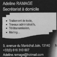 Adeline Ramage Assistante Administrative